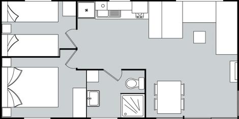 Alucasa Nepal V2 2 Bedrooms Floorplan