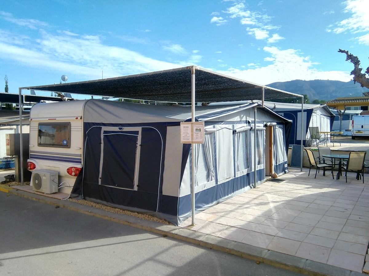 hobby caravan for sale on camping villamar campsite in. Black Bedroom Furniture Sets. Home Design Ideas