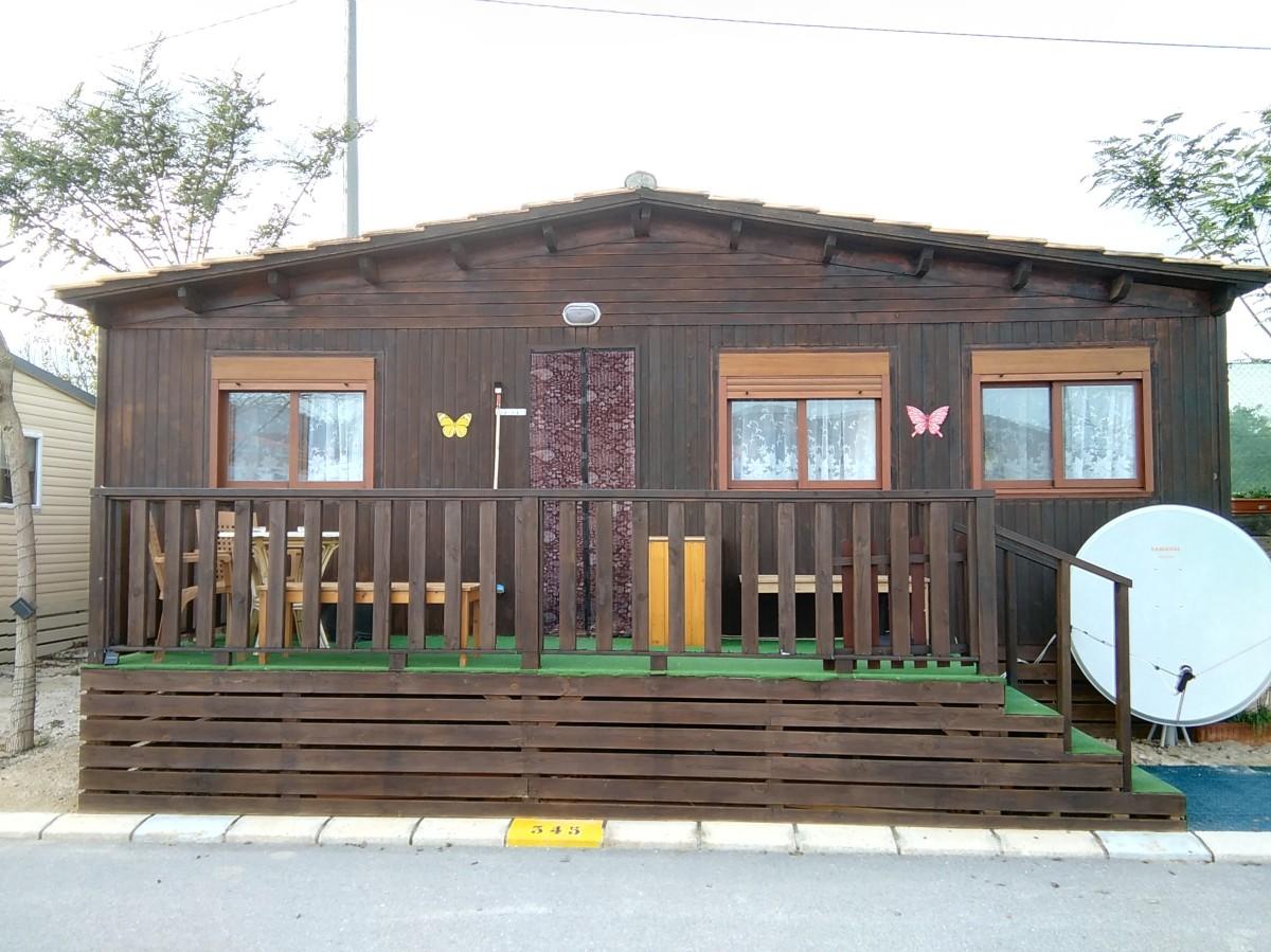 Unique Wooden Chalet For Sale On Camping Almafra Caravan