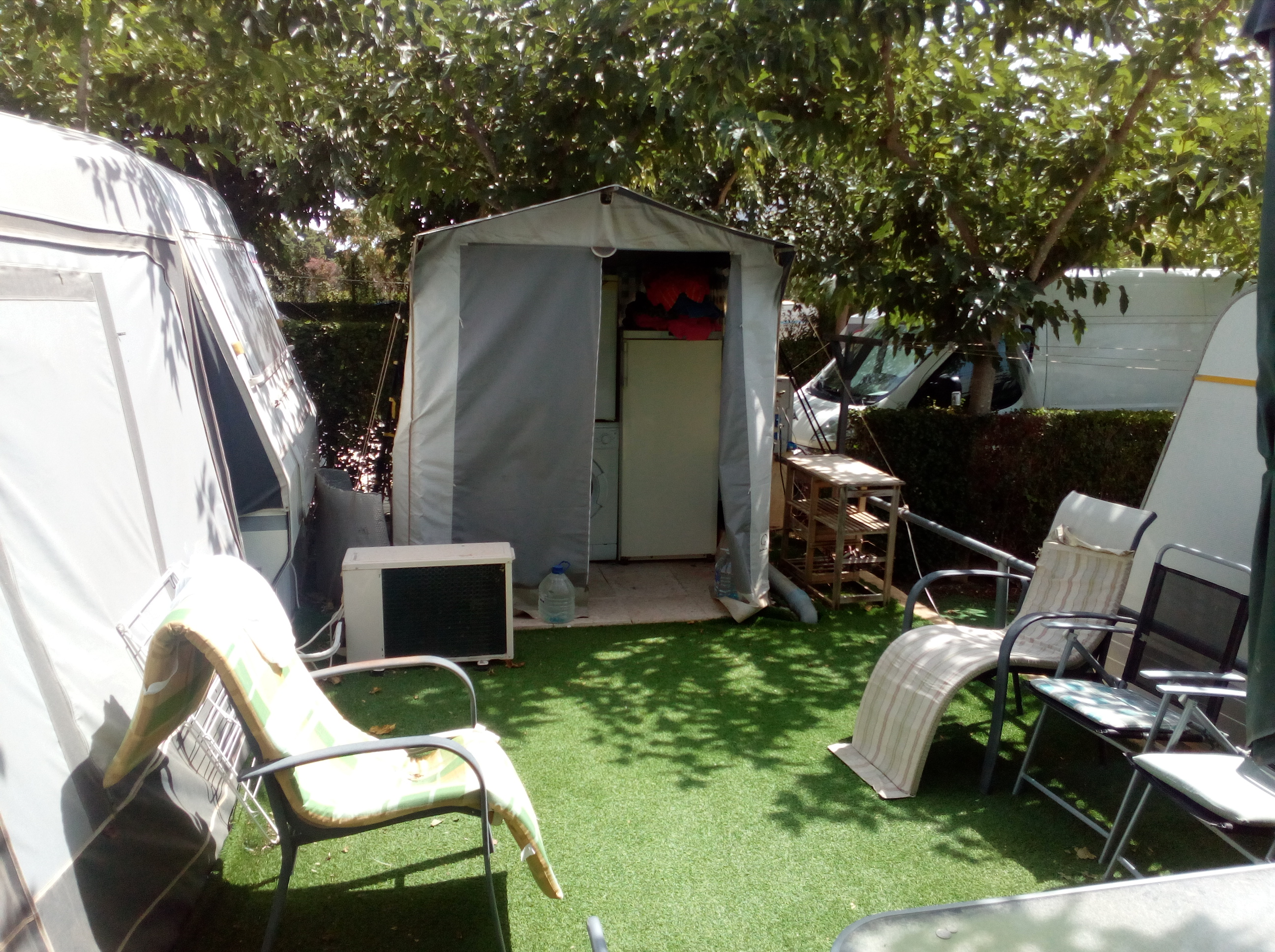 caravan and awning for sale on camping armanello campsite. Black Bedroom Furniture Sets. Home Design Ideas