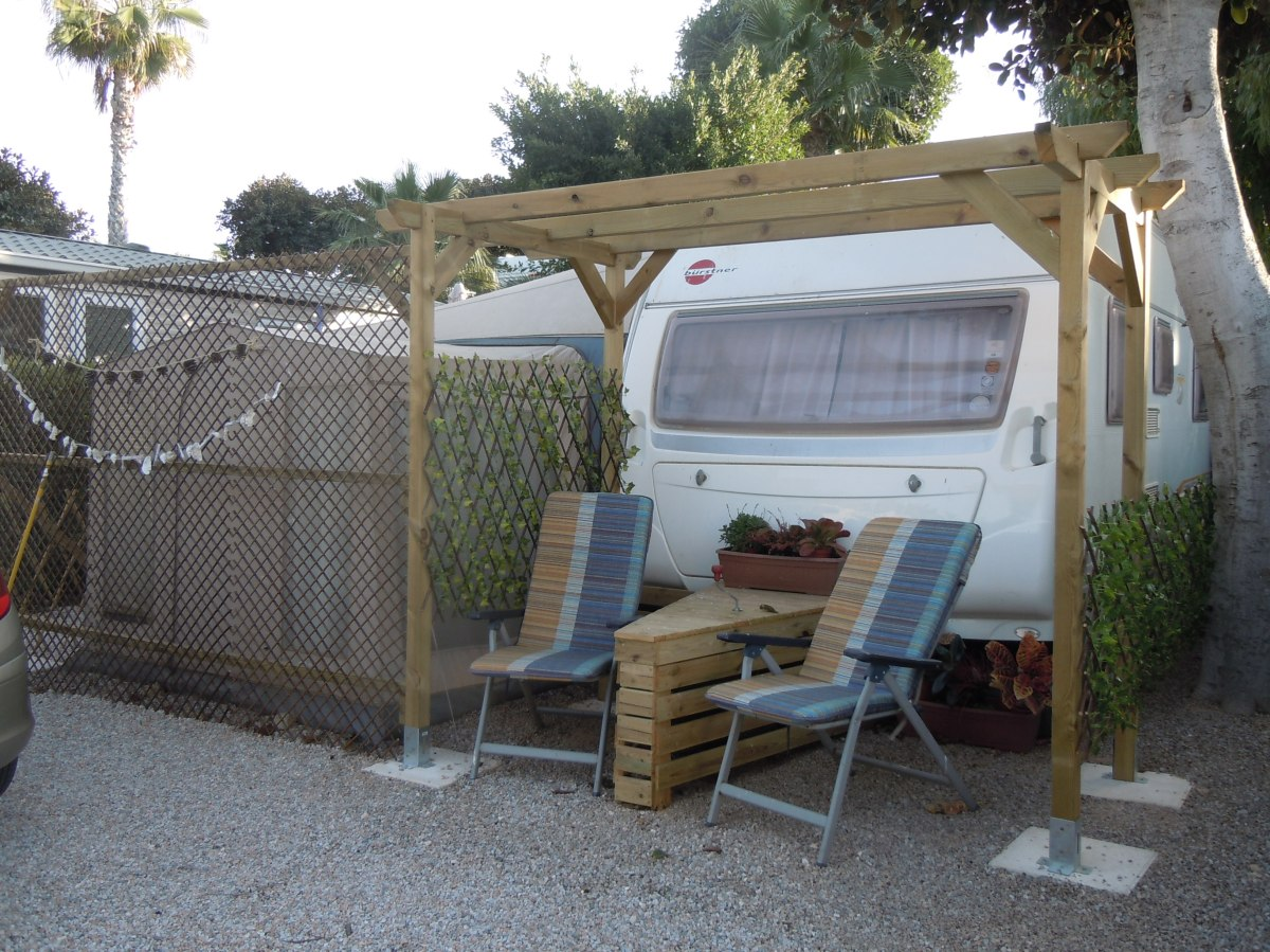Static Touring Caravan & Awning For Sale On Camping ...